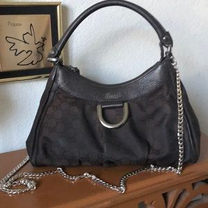 Gucci Small GG D-Ring Hobo Excellent Condition!